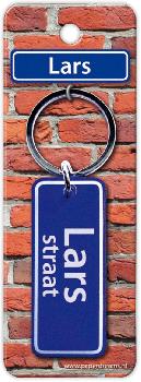 Straatnaam sleutelhanger - Lars