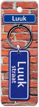 Straatnaam sleutelhanger - Luuk