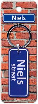 Straatnaam sleutelhanger - Niels
