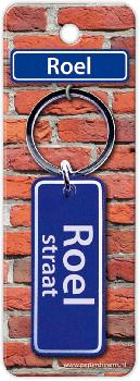 Straatnaam sleutelhanger - Roel