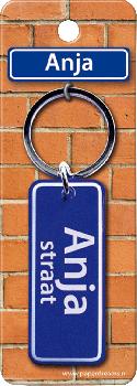 Straatnaam sleutelhanger - Anja