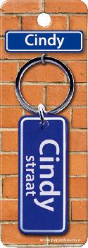 Straatnaam sleutelhanger - Cindy