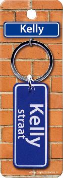 Straatnaam sleutelhanger - Kelly