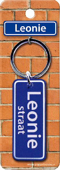 Straatnaam sleutelhanger - Leonie