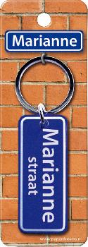 Straatnaam sleutelhanger - Marianne