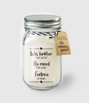 Black & White scented candles - Wes tankber