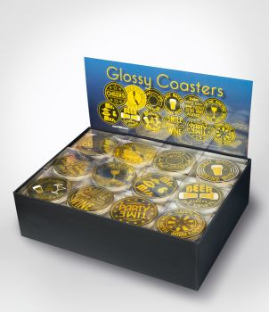Glossy Coasters Counterbox