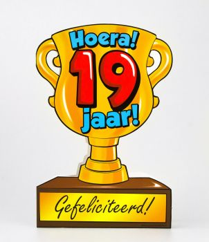 Trofee kaart - 19 jaar