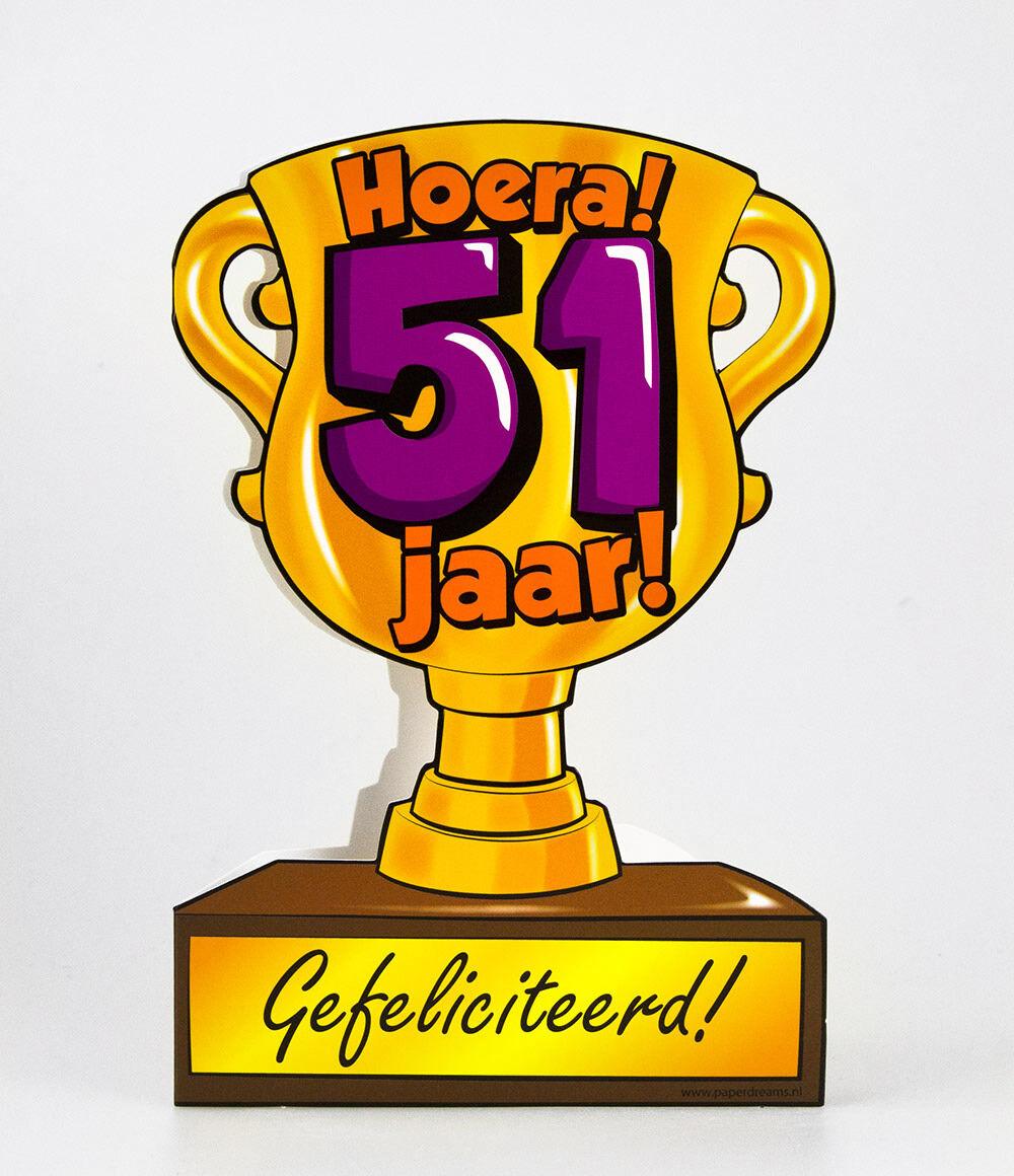 51 jaar Paper Dreams trofee kaart 51 jaar 51 jaar