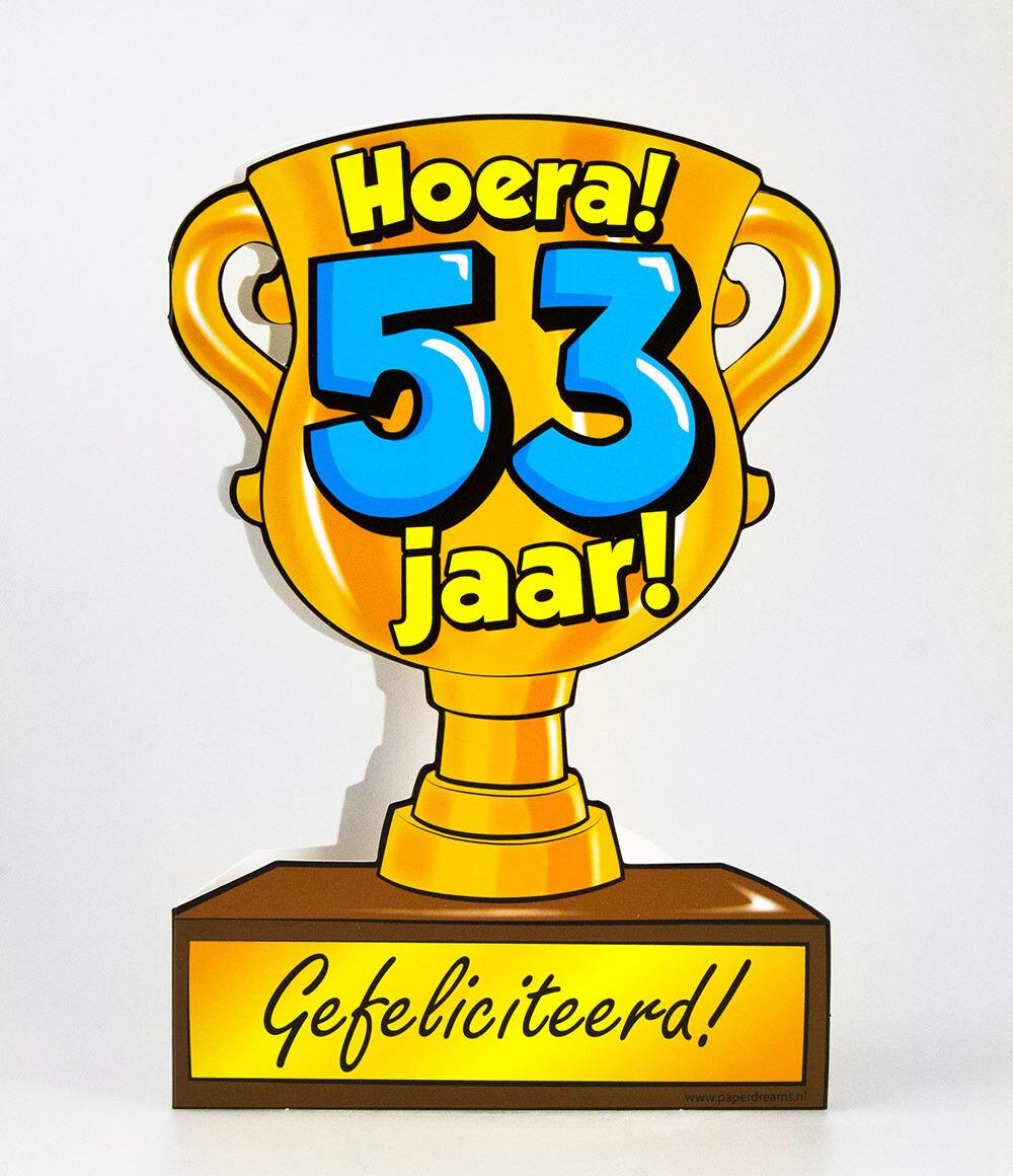 53 jaar Paper Dreams trofee kaart 53 jaar 53 jaar