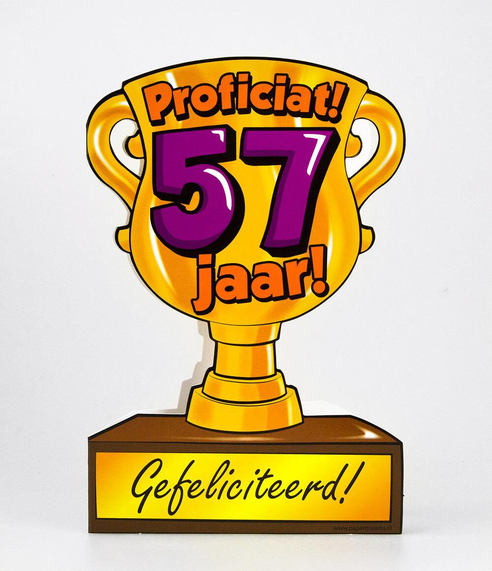 57 jaar Paper Dreams trofee kaart 57 jaar 57 jaar