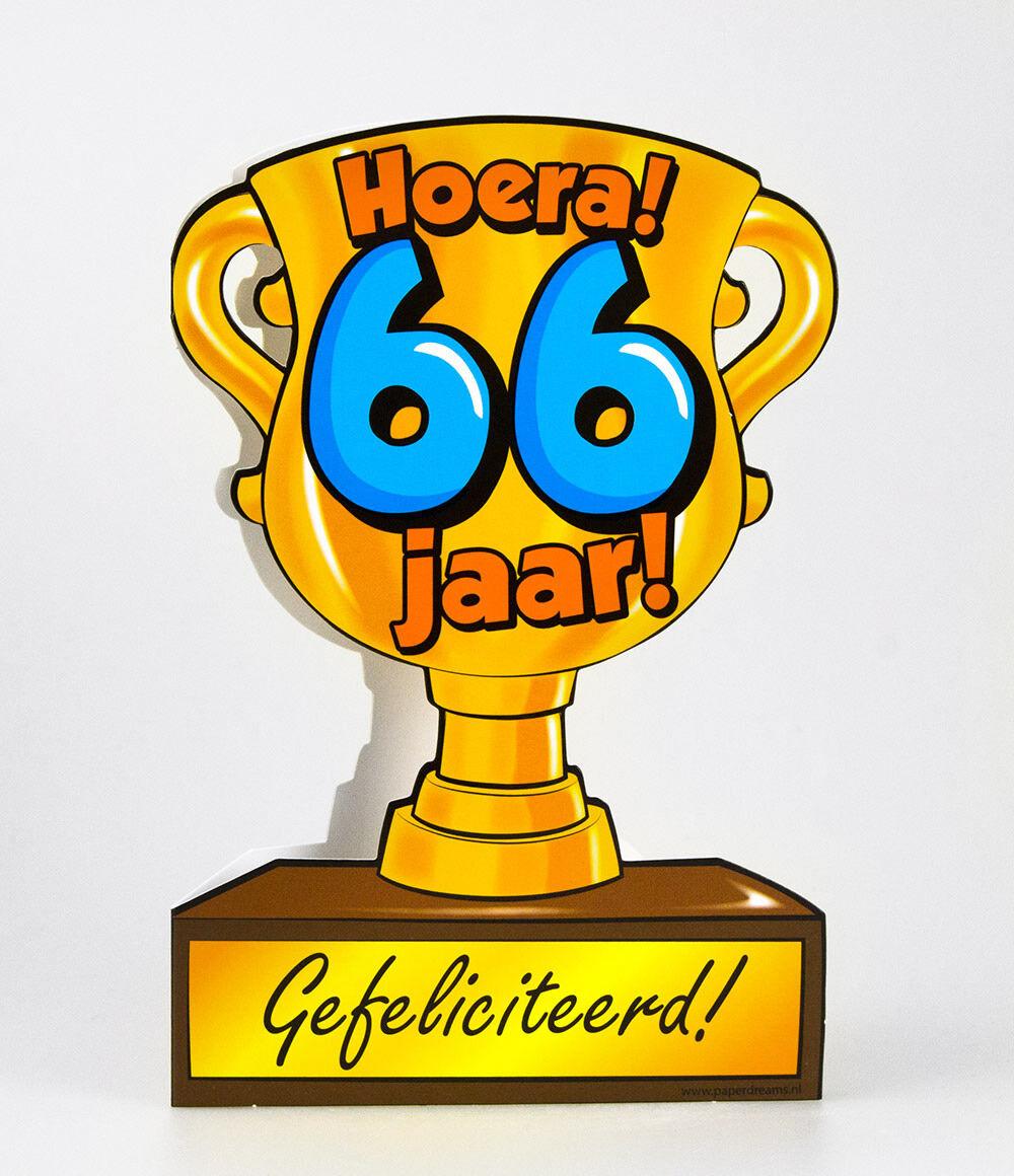 66 jaar Paper Dreams trofee kaart 66 jaar 66 jaar